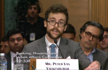 Peter Van Valkenburgh image via U.S. Senate Committee on Banking, Housing and Urban Affairs https://www.banking.senate.gov/hearings/exploring-the-cryptocurrency-and-blockchain-ecosystem