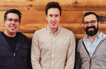 Image of co-founders Dave Balter (L), Jim Myers and Eric Stone (R) via Flipside Crypto