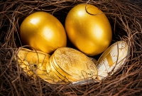 gold, egg, crypto