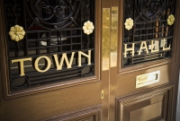 town, hall, government