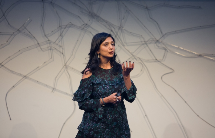 Kavita at the first Tachyon Demo Day in San Francisco, November 2018. Image via ConsenSys Ventures