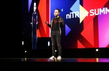 Tron CEO Justin Sun speaks at niTROn Summit 2019. (Photo by Brady Dale for CoinDesk)