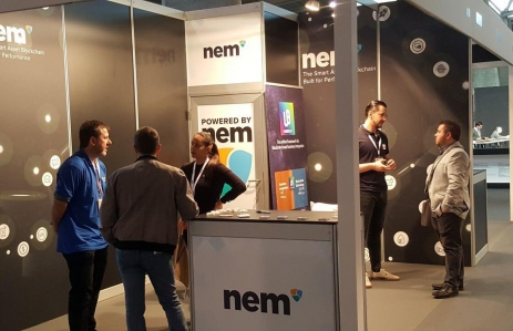 NEM conference booth image via NEM Foundation