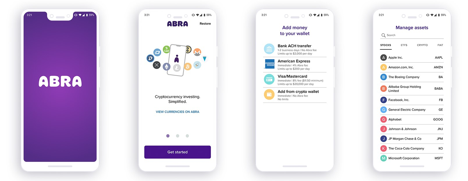 Abra's Blockchain App to Let Users Make Small Stock, ETF Investments
