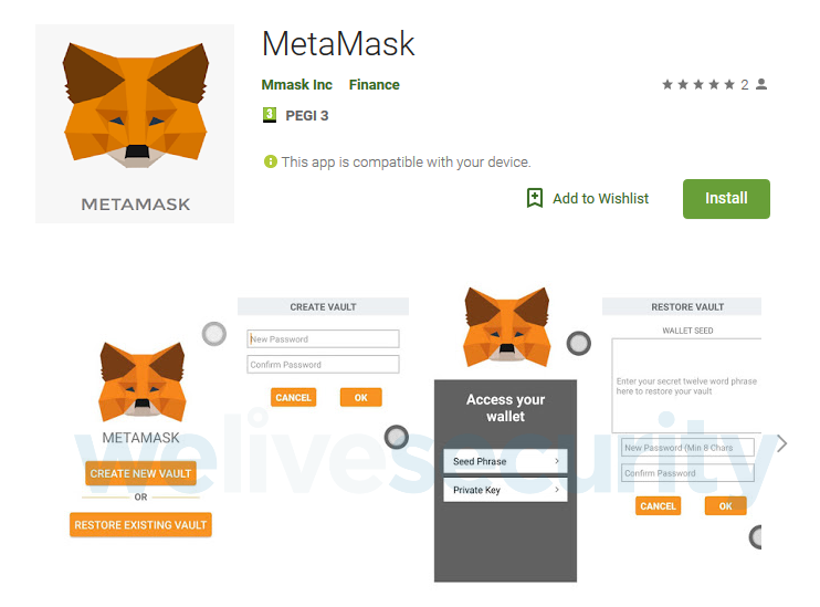 Fake MetaMask App on Google Play Store Hosted Crypto Malware - CoinDesk