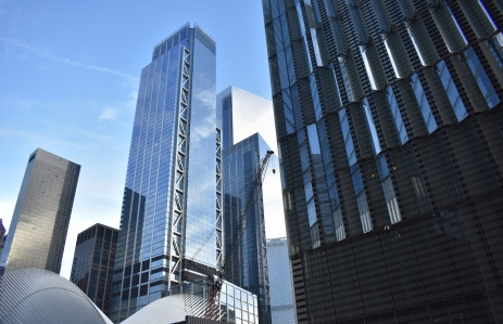 3 World Trade Center Building with 4 World Trade Center in the Background and 1 World Trade Center in the Foreground - Image