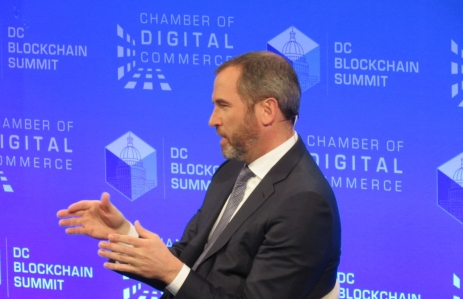 Brad Garlinghouse, CEO of Ripple, D.C. Blockchain Summit, March 6, 2018, photo by Nik De for CoinDesk