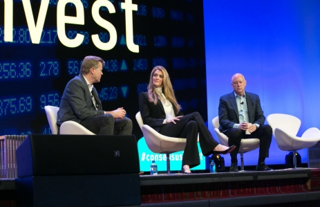 Michael Casey, Kelly Loeffler and Jeffrey Sprecher image via CoinDesk archives