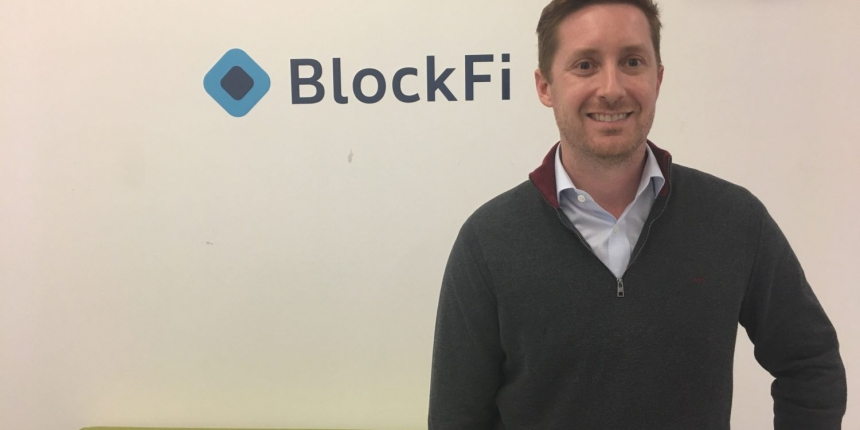 Image of BlockFi's CEO Zac Prince by Anna Baydakova for CoinDesk