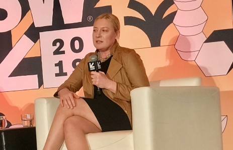 SEC Senior Advisor for Digital Assets Valerie Szczepanik speaks at SXSW 2019. (Photo by Brady Dale for CoinDesk)