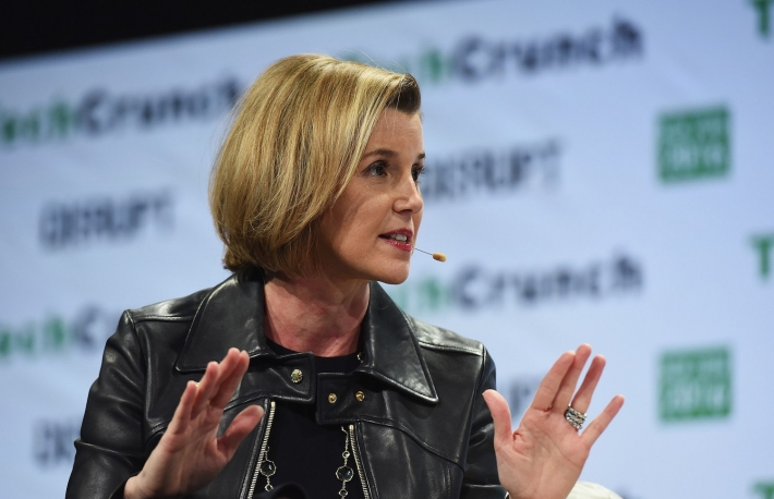 Sallie Krawcheck speaks onstage during TechCrunch Disrupt NY 2016 at Brooklyn Cruise Terminal on May 11, 2016 in New York City.
