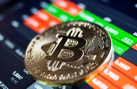 https://www.shutterstock.com/image-photo/golden-bitcoin-coin-against-digital-currency-497337487