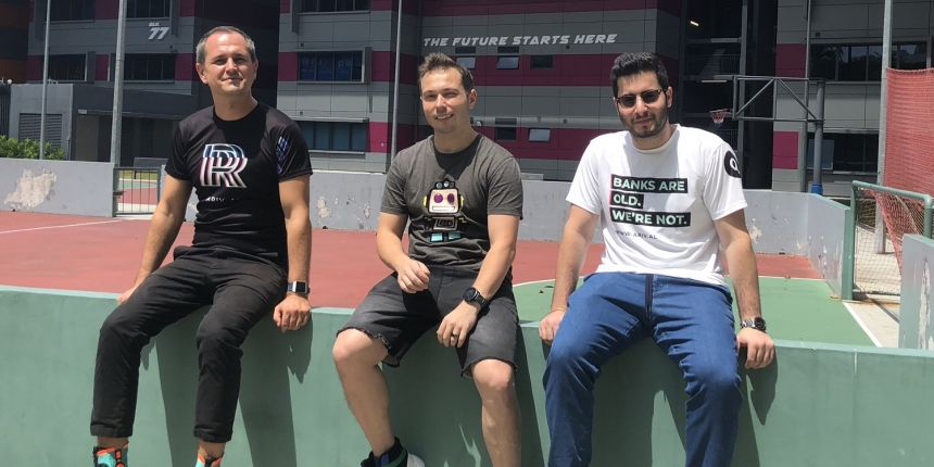 Arival bank founders Slava Solodkiy, Igor Pesin and Jeremy Berger — courtesy of Arival