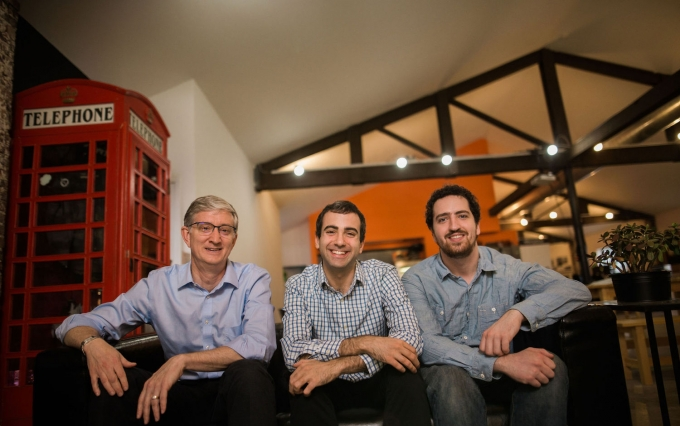 Photo of co-founders (left to right) Ed Felton, Steven Goldfeder and Harry Kalodner courtesy of Offchain Labs / Misha Rodionov