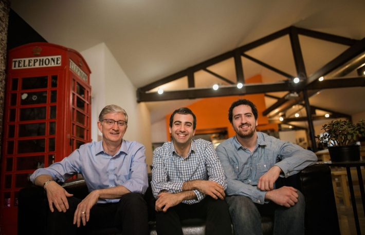 Photo of co-founders (left to right) Ed Felton,Steven Goldfeder andHarry Kalodner courtesy ofOffchain Labs /Misha Rodionov