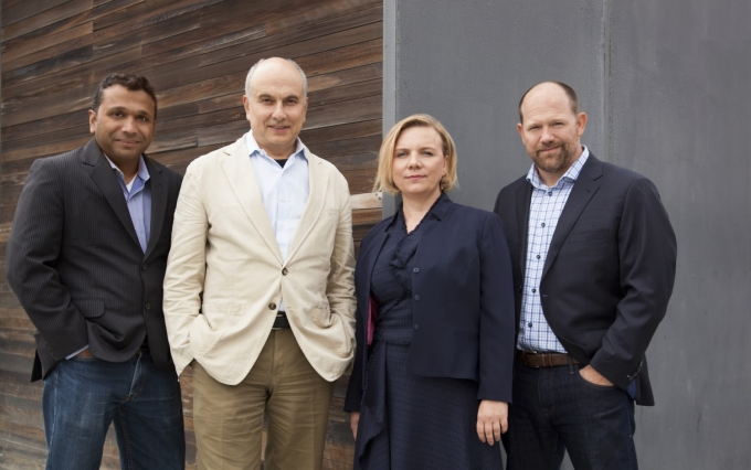 Shamir Karkal, Alexander Lipton (CTO), Angela Angelovska-Wilson (Chief Legal Officer) and Isaac Hines, COO; Sila founders image courtesy Sila