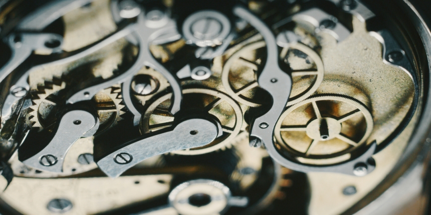 luxury watch gears, via Shutterstock https://www.shutterstock.com/image-photo/macro-close-luxury-mechanism-watch-gears-1329873020?src=X6AboKDr4Gs2MookxGHPYQ-1-1