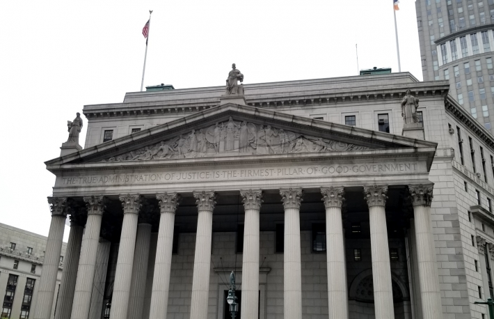 New York Supreme Court image via Nikhilesh De for CoinDesk