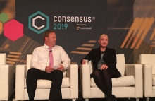 Valerie Szczepanik at Consensus 2019 — photo by Anna Baydakova for CoinDesk