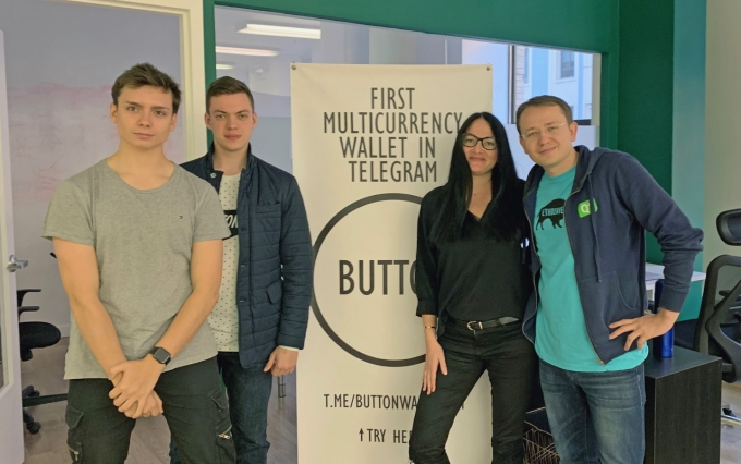 Button Wallet team photo courtesy of the company