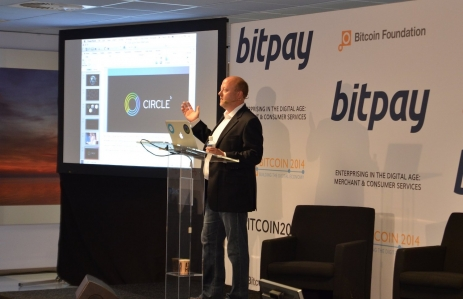 Circle CEO Jeremy Allaire speaks at Bitcoin2014, photo via CoinDesk archives