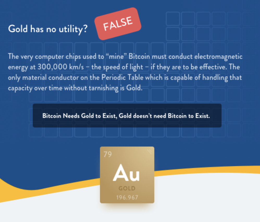 Gold Is Superior to Bitcoin,' Say People Who Sell Gold - CoinDesk