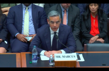 David Marcus, CEO of Facebook's Calibra subsidiary.  House Financial Services Committee, July 17, 2019, image via House Financial Services Committee