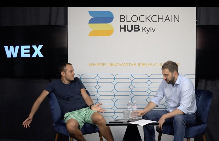Image of Dmitrii Vasilev, ex-CEO of the crypto exchange WEX, via YouTube https://www.youtube.com/watch?v=KZvp8TXI0z4