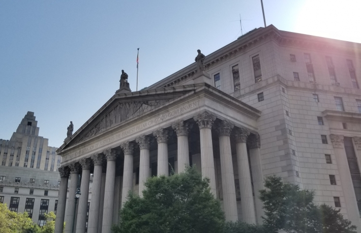 New York State Supreme Court image via Nikhilesh De for CoinDesk