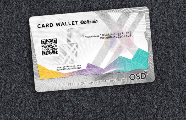 via Coinfinity  https://www.cardwallet.com/en/shop/