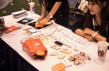 Huobi booth image via CoinDesk archives