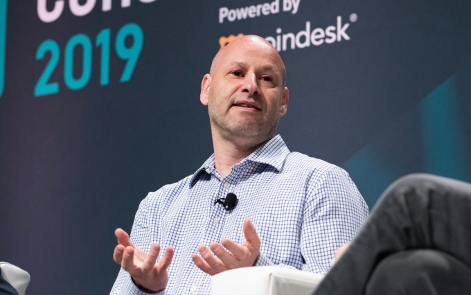 Joseph Lubin speaks at Consensus 2019, photo via CoinDesk archives