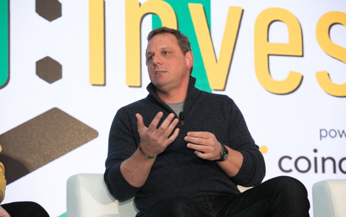 Michael Arrington at Consensus: Invest 2017, image via CoinDesk archives