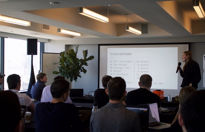 Summa founder James Prestwich at the first Cross-Chain Working Group meeting in San Francisco, image via Keep