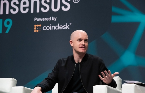 Brian Armstrong at Consensus 2019 via CoinDesk archives