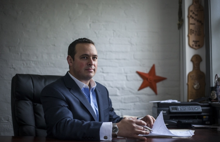 Dan Backer, of DB Capitol Strategies, near his Alexandria, VA office, on Saturday, September 12, 2015.  John Boal/for New York Magazine  Dan Backer photo by John Boal; Courtesy Political.law https://www.political.law/images