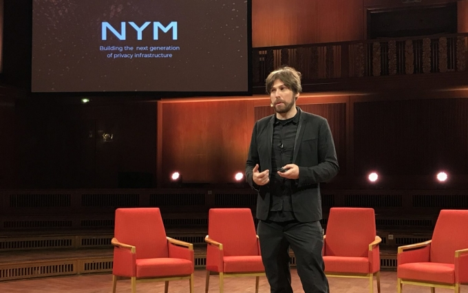 Nym Technologies CEO Harry Halpin speaks at Web3 Summit 2019 (photo by Christine Kim for CoinDesk)