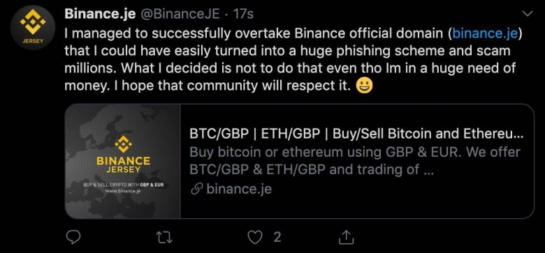 hacker binance