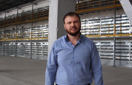 Ivan Kaap at Bitriver's mining farm in Bratsk