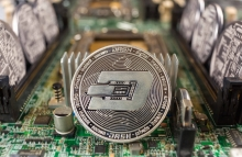 Visual representation of dash cryptocurrency via Shutterstock https://www.shutterstock.com/image-photo/dash-coin-closeup-on-computer-circuit-1395884057?src=futrLdGIZq4bR4uxty2C3Q-1-10