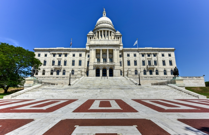 The Rhode Island State House via Shutterstock