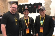 Bull Bitcoin co-founders Dave Bradley and Francis Pouliot and Blockstream CSO Samson Mow