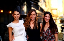 iAngels co-founders Agada Nameri, Shelly Hod Moyal and Mor Assia (left to right), photo by Ali Powell for CoinDesk