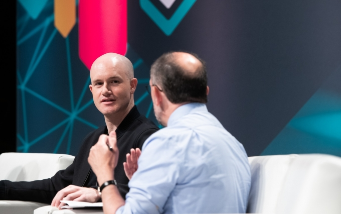 Brian Armstrong image via CoinDesk archives