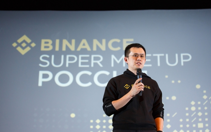 CZ speaking at the Binance meetup in Moscow, Oct. 21, 2019 / Courtesy of Binance