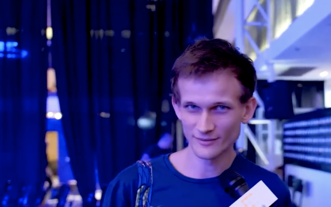Vitalik Buterin at Ethereal Summit via Ali Powell/CoinDesk