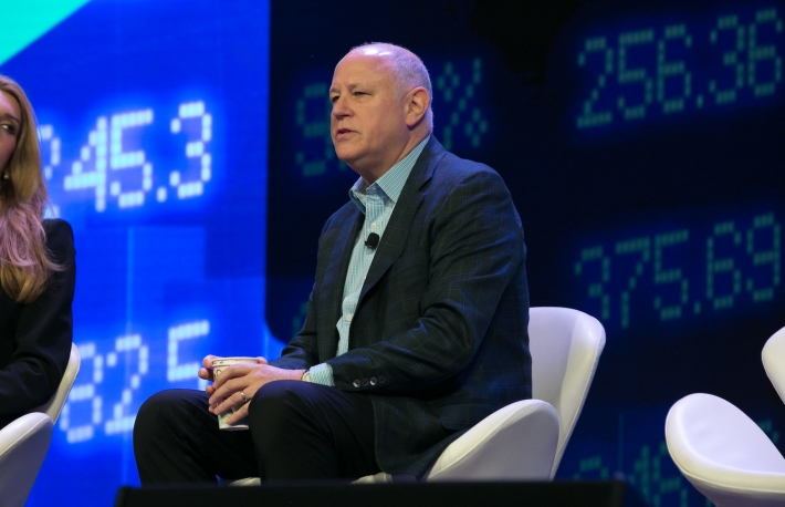 CC3B7730 Invest 2018  Kelly Loeffler Chief Executive Officer Bakkt Michael Casey Chairman of the Advisory Board CoinDesk