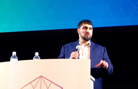 Amir Taaki speaks at Devcon 5, image by Christine Kim for CoinDesk
