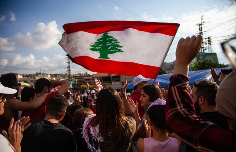 Lebanese protestors, October 2019. (Credit: Shutterstock)