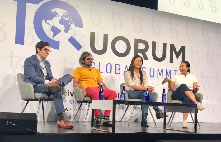 - Nic Carter, Castle Island Ventures - Tarun Chitra, Gauntlet Network - Lily Liu, Investor - Moderated by: Joyce Yang, Global Coin Ventures  Photo by Brady Dale
